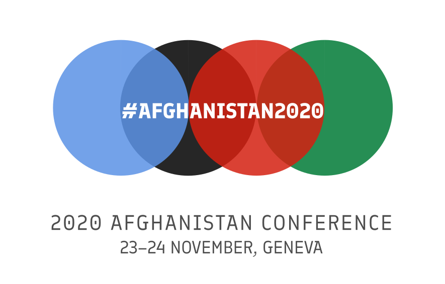 The logo of the Afghanistan Conference 2020