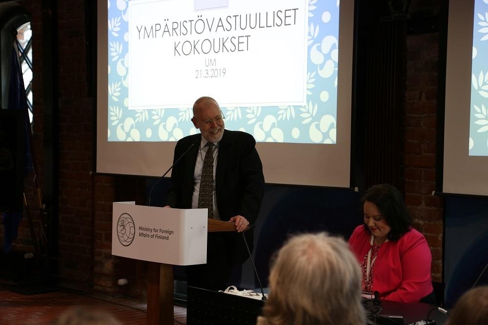 Valtiosihteeri Matti Anttosen mukaan uusi kestävien kokousjärjestelyiden konsepti on jatkossa kaikkien ulkoministeriöläisten vastuulla.