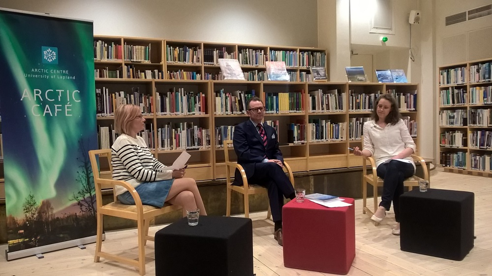 "The subject at the University of Lapland's Arctic Centre's Arctic Café at the beginning of June was ""Is the Arctic Council the herald of change or simply window-dressing?"" The debaters were Marjo Lindroth, Rene Söderman and Heidi Sinevaara-Niskanen."