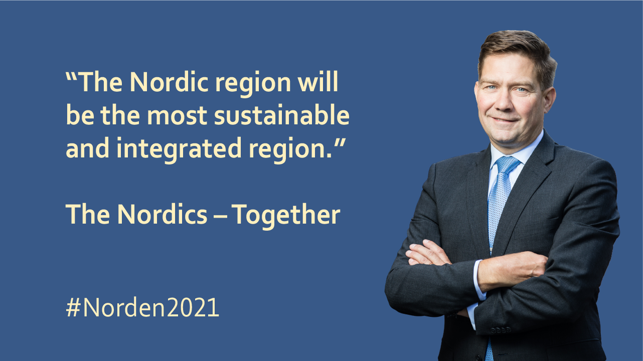 Finland's Minister for Nordic Cooperation Thomas Blomqvist