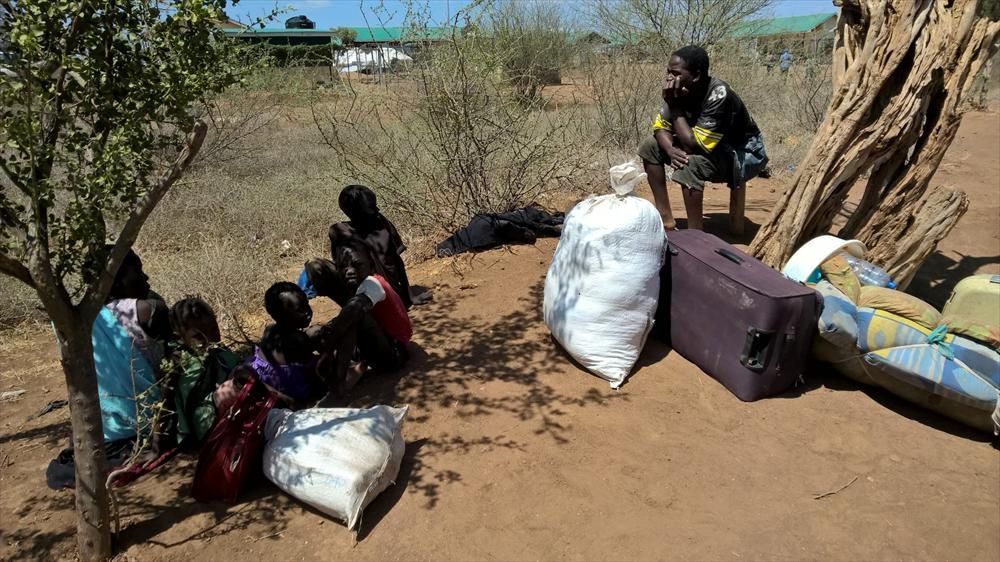 Refugees from South Sudan at the border of Kenya and South Sudan. Photo by Claus Lindroos.