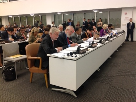 Statement by Minister Tuomioja at The United Nations Economical and Social Council.  Photo: MFA Finland